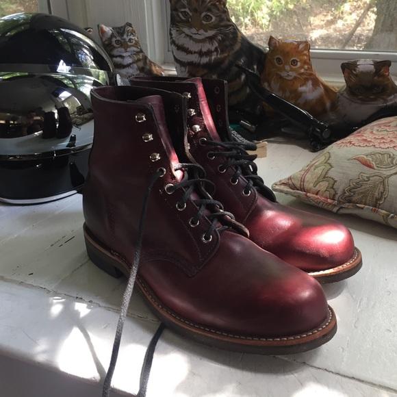 "fa2bb90930252 Chippewa Other - Chippewa Burgundy 6"" 1939 Original Service Boot"